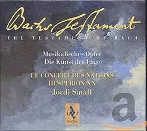 Bach's Testament: Musical Offering & Art of Fugue