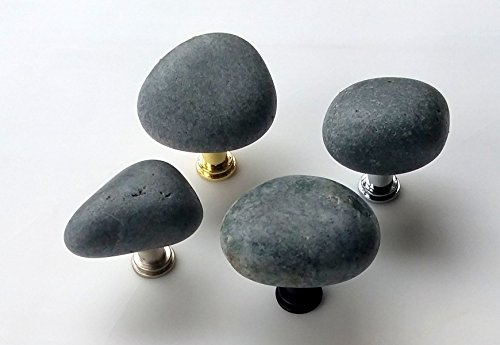Creekside Collection - Natural Stone Knob - Smokey Grey ()