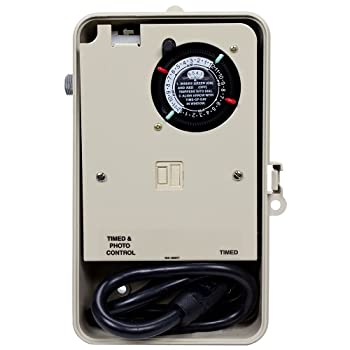 Intermatic P1251P Two Circuit Timer with Built in Photo Control Outdoor Enclosure