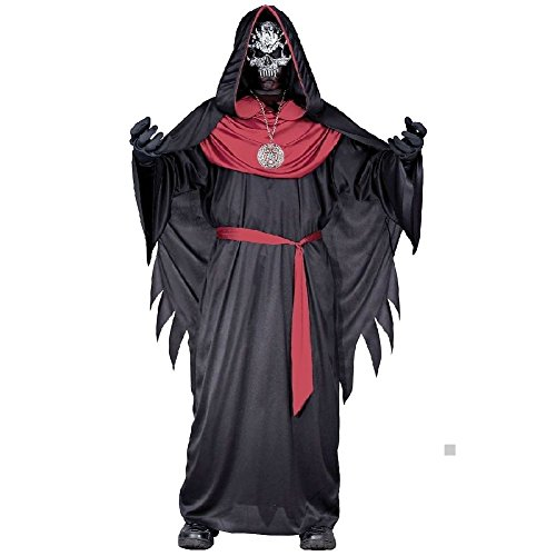 Emperor of Evil Costume Kids Skull Priest Scary Horror Halloween Fancy (Halloween Exorcist Doll)