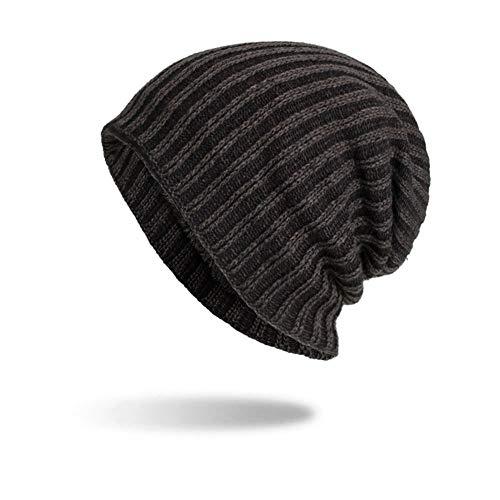 (iYBUIA Women Men Warm Baggy Weave Crochet Winter Wool Knit Ski Beanie Skull Caps Hat(Navy,One Size))