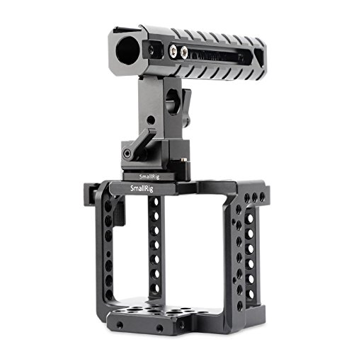 SmallRig Camera Accessories for BMMCC BMMSC including BMMCC Cage, Top Handle, HDMI Lock, Safety Rail - 1922 by SmallRig