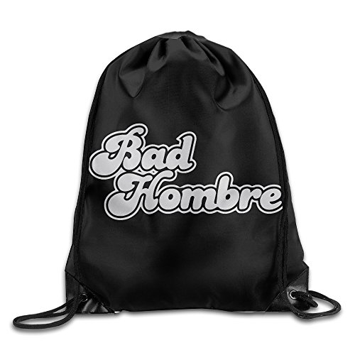 "Price comparison product image Bad Hombre Sackpack Training Gymsack Drawstring Bag Drawstring Backpack Sport Bag Travel Bag Pouch Portable Backpack Rucksack Bagsack 16.9"" X 14.2"" Durable 210 D Polyester"