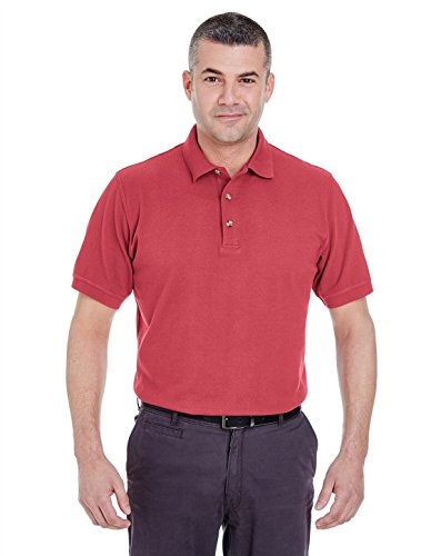 UltraClub 8535 Mens Classic Pique Polo Cardinal 4X-Large