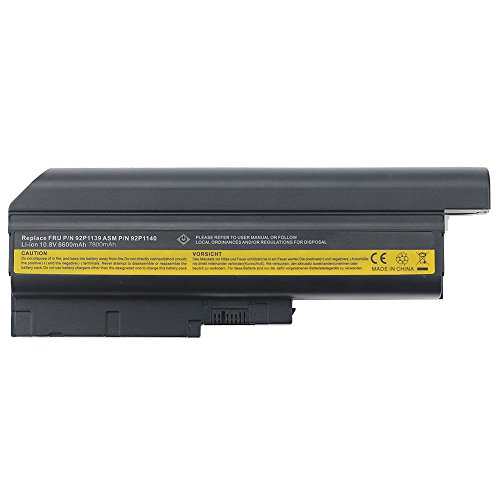 New Replacement 9 Cells High Capacity Li-Ion Battery for IBM ThinkPad Compatible Models (92p1127 Fru Ibm Replacement)