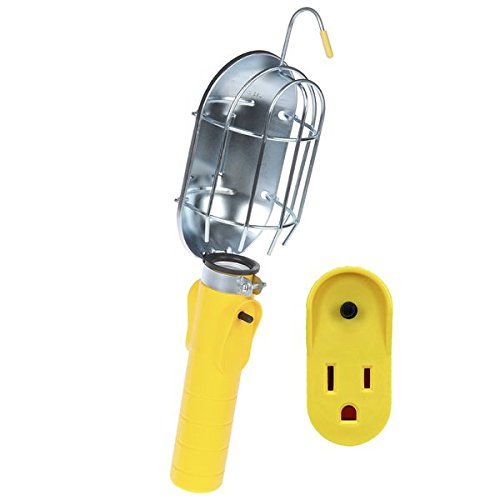 Bayco SL-204 Replacement Incandescent Work Light Head with Metal Guard and Single Outlet for Models 450 and 840