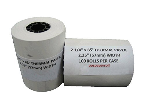 2 1/4'' X 85' Thermal Paper (100 Rolls) by PosPaperRoll (Image #1)