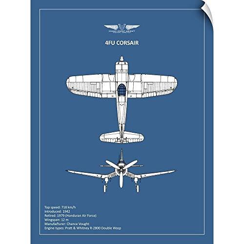 (CANVAS ON DEMAND BP CV F4U-Corsair Wall Peel Art Print, 36