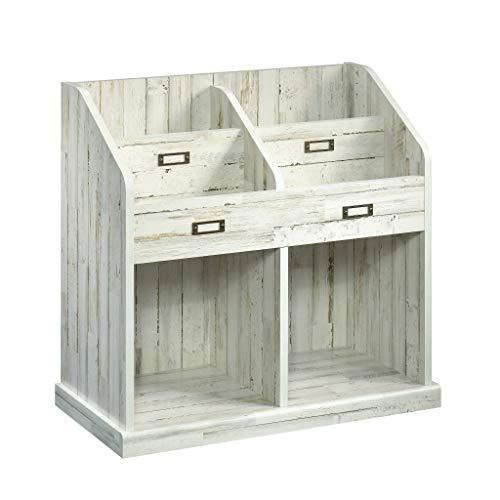 Sauder 423675 Barrister Lane Bookcase, White Plank Finish (Cobblestone Bookshelf)