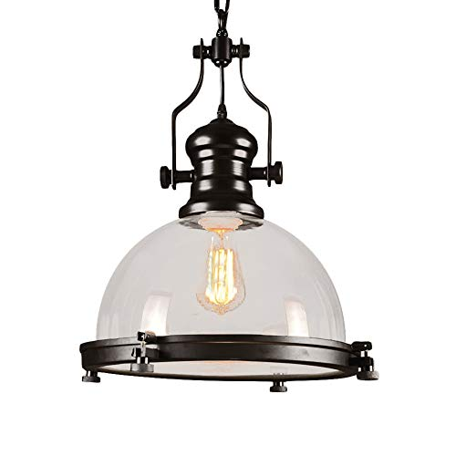 (Industrial Nautical Glass Pendant Light, MKLOT 12.20