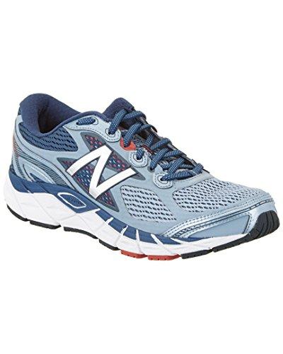 Free New Balance Men's M840V3 Running Shoe, Grey/Red, 12 D US