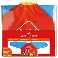 Faber-Castell 5700579200 Boyama Önlüğü, Kırmızı/Mavi