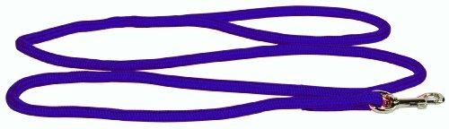 Hamilton 836 PU 5/16-Inch by 4-Foot Round Braided Nylon Dog Lead with Swivel Snap, Purple (Braided Nylon Snap)