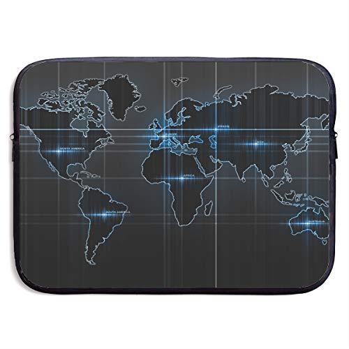 - Computer Bag Laptop Case Slim Sleeve Pulse Map Waterproof 13-15In IPad Macbook