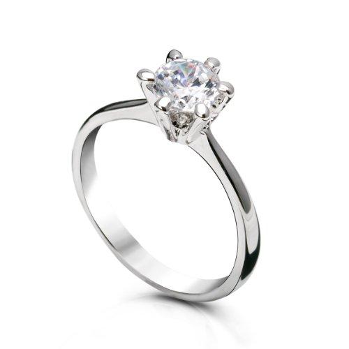 amazoncom fairy couple womens cubic zirconia wedding engagement ring r62 jewelry - Swarovski Wedding Rings