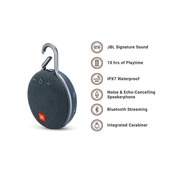 JBL Clip 3 - enceinte Bluetooth Portable avec Mousqueton - Étanchéité Ipx7 - Autonomie 10hrs - Qualité Audio JBL - Bleu 2