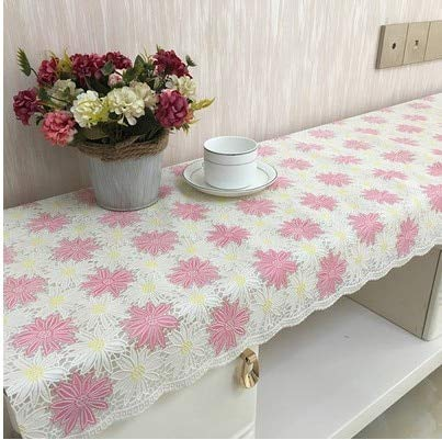 Blue Stones European PVC lace TV Cabinet Cloth Cover Waterproof Tablecloth Coffee Table mat Nightstand Dresser Cover ()