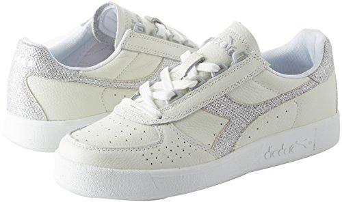 White 173135 Woman Sneakers 01 Elite Silver Diadora B Low L C0516 Shoes 501 XCqStPpw
