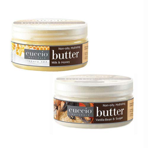 Cuccio Butter Lotion Milk & Honey Lotion 8 oz + Vanilla Bean & Sugar 8 oz