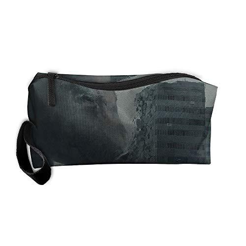 Jessent Coin Pouch Pig Demon Pen Holder Clutch Wristlet Wallets Purse Portable Storage Case Cosmetic Bags Zipper