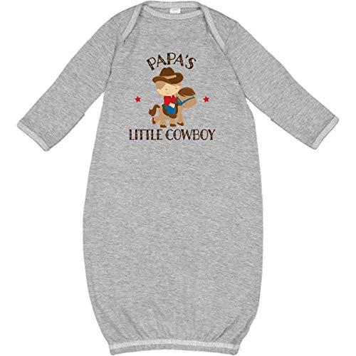 inktastic - Papa Grandpa's Little Cowboy Newborn Layette Heather 229ad