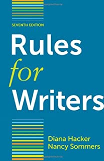 Rules for writers 7th edition (9780312647360) textbooks. Com.