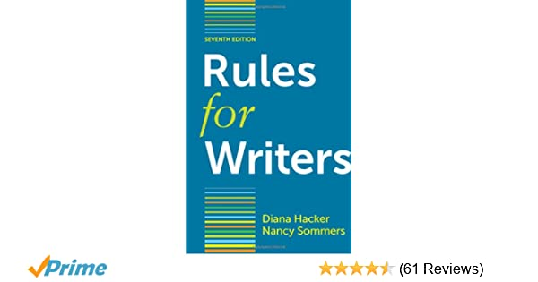 Amazon rules for writers with writing about literature tabbed amazon rules for writers with writing about literature tabbed version 9780312647957 diana hacker nancy sommers books fandeluxe Gallery