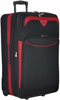 "5Cities Large 26 pulgadas ampliable ligero equipaje del bolso maleta (26"", Negro\rojo)"