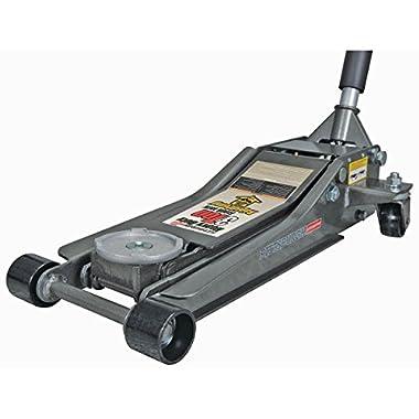 3 Ton Heavy Duty Ultra Low Profile Steel Floor Jack with Rapid Pump Quick Lift