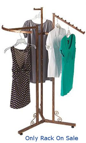 New Customize Boutique Cobblestone 3-Way Clothes Display Rack 48''-72'' H by Cloth Display Rack