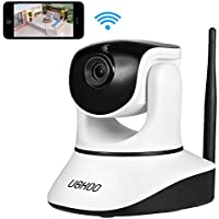 UOKOO Home Security Camera,720P WiFi Security Camera Internet Surveillance Camera Built-in Microphone, Pan/Tilt with 2-Way Audio,Baby Video Monitor Nanny Cam, Night Vision Wireless IP Webcam 631GB