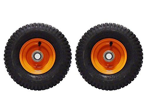 (2) Scag 13x6.50-6 Walk Behind Mower Tire Assemblies with Double Belt Drive Pulleys Part 48192