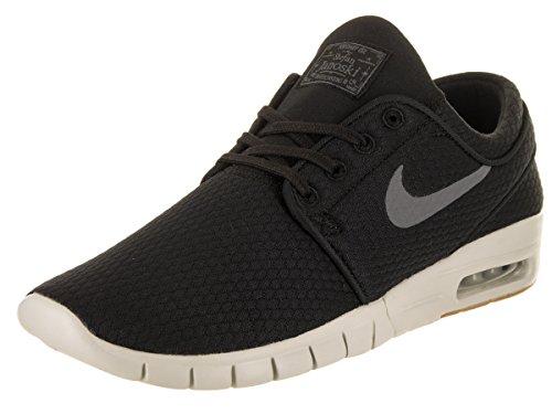 NIKE Men's Stefan Janoski Max Black/Dark Grey Gum Med Brown Skate Shoe 9.5 Men US (Brown Nike Shoes)
