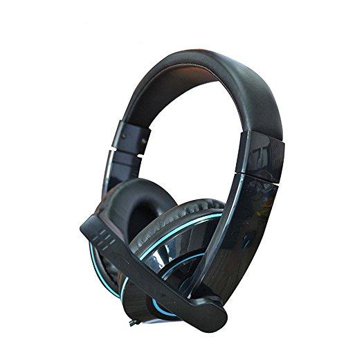 XHKCYOEJ Headset Stereo Headset/Headphones/Headphones/Computer/Notebook/Ear Wheat,Black: Amazon.co.uk: Electronics