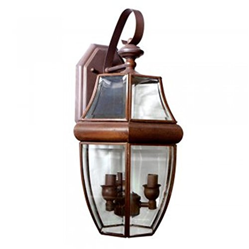 New Classic 3 Light - Classic 3-Light Coach Light Fixture, Indoor/Outdoor Lamp, Wall or Porch, New, Light Bulbs Included