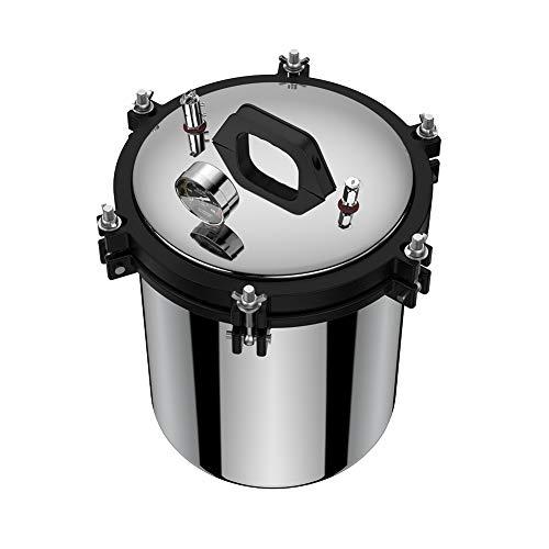 Steam Autoclave Sterilizer, 18L Stainless Steel Dual Heating Pressure Steam Autoclave Sterilizer Equipment XFS