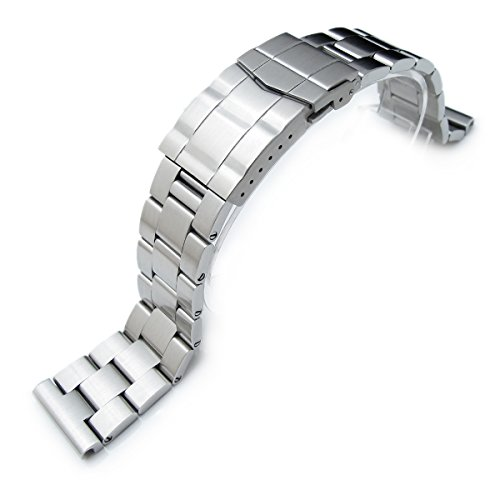 22mm Super Oyster Solid 316L Stainless Steel Watch Bracelet, Submariner Clasp, Straight ()