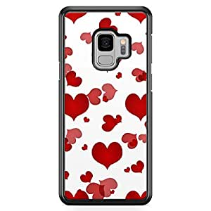 Samsung S9 Transparent Edge Case Valentines Day Couples Love Heart Pattern Colorful Durable Reinforced Plastic Samsung S9 Transparent Edge Cover