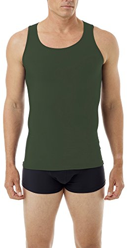 Underworks Mens Microfiber Compression Tank, XSmall, Army Green by Underworks (Image #2)