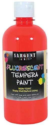 - Sargent Art 17-5720 16 oz Red Fluorescent Tempera Paint