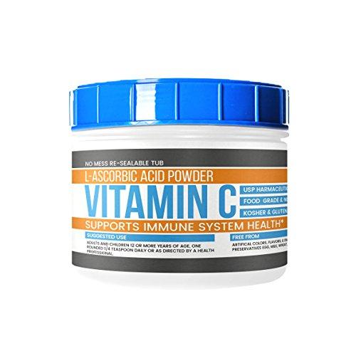 Vitamin C Powder (L-Ascorbic Acid) (2 lb) by Earthborn Elements, Resealable Tub, Antioxidant, Boost Immune System, DIY Skin Care, Satisfaction Guaranteed