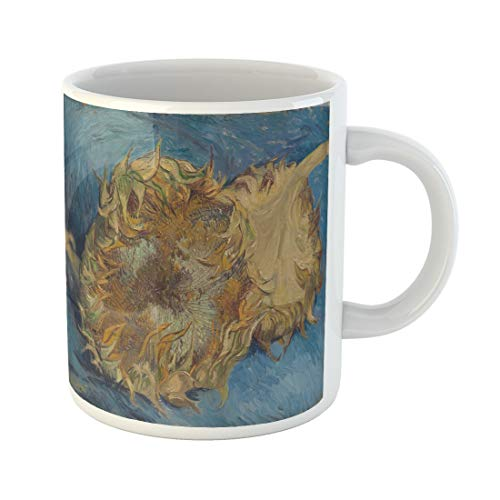 Semtomn Funny Coffee Mug Sunflowers By Vincent Van Gogh 1887 Dutch Post Impressionist 11 Oz Ceramic Coffee Mugs Tea Cup Best Gift Or - 1887 Paintings Oil