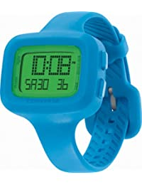 Converse Women's VR025470 Understatement Classic Digital and Turquoise Silicone Strap Watch