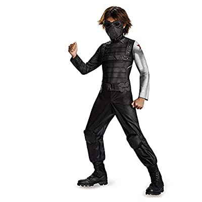 Disguise Marvel Captain America The Winter Soldier Movie 2 Winter Soldier Classic Boys Costume, Small (4-6): Toys & Games