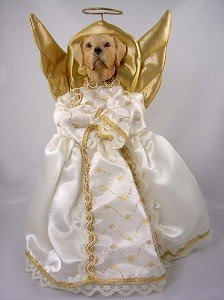 Labrador Retriever Yellow Angel Tree Topper