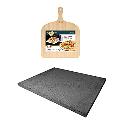 Eppicotispai Pizza Set with Cooking Stone and Pizza Peel, Silver from Eppicotispai