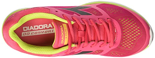 Femme Vd Chaussures Flame X de Course Nr Rouge Acido Fumo Rosso W Diadora Run qvYTgwxgS