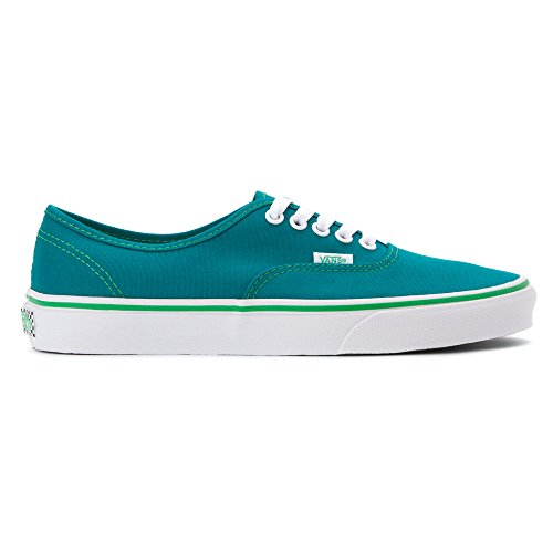 Vans Authentic Round Toe Leinwand Skate Schuh (Pop-Check) Fanfare / Kelly Green