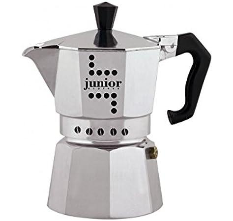 Junior Cafetera, Aluminio, Plata, 2 Tazas: Amazon.es: Hogar