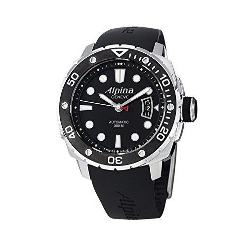Alpina Adventure AL-525LB4V36 Extreme Diver Black Dial Black Rubber Men's Watch